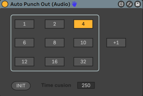Audio Punch Out Looper for Ableton Live